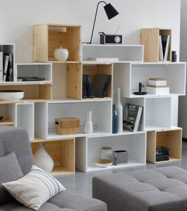 Libreria stile svedese arredamento design dise o de for Mobili sala angolari
