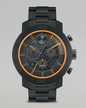XL Bold Titanium Chronograph Watch, Black by Movado Bold at Neiman Marcus. $895 - SEXY