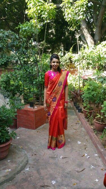 Paithani style Soft silk