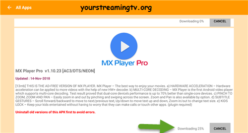 Mx Player Old Version 2018