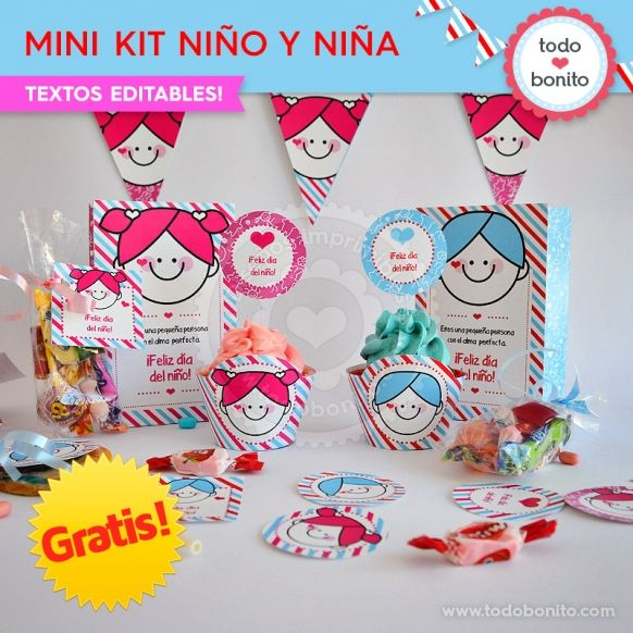 GRATIS * Mini Kit imprimible Niña y Niño | Ideas y recursos para ...