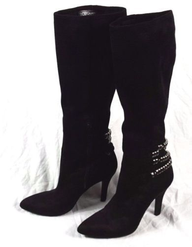 f8a17062458 Used-BCBGeneration-Effie-Ladies-Black-Stretch-Micro-Suede-Knee-High-Boots -8-M