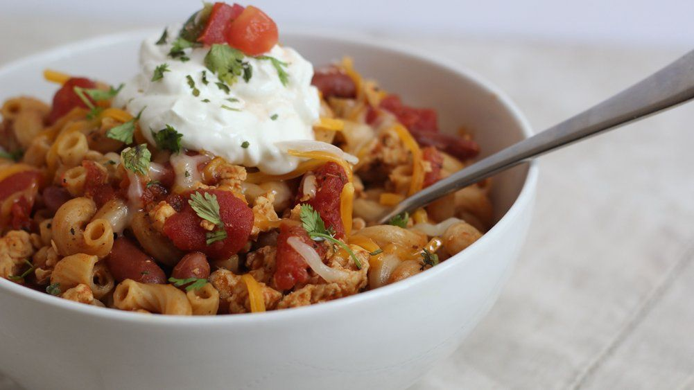 Spice up chili to your liking with this quick and easy one-pot pasta.
