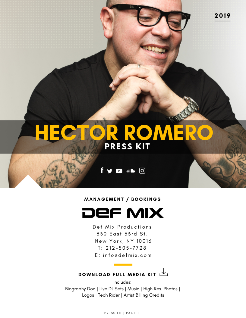 Press Kit For Artist Presskit Epk Dj Music Webdesign Music Housemusic