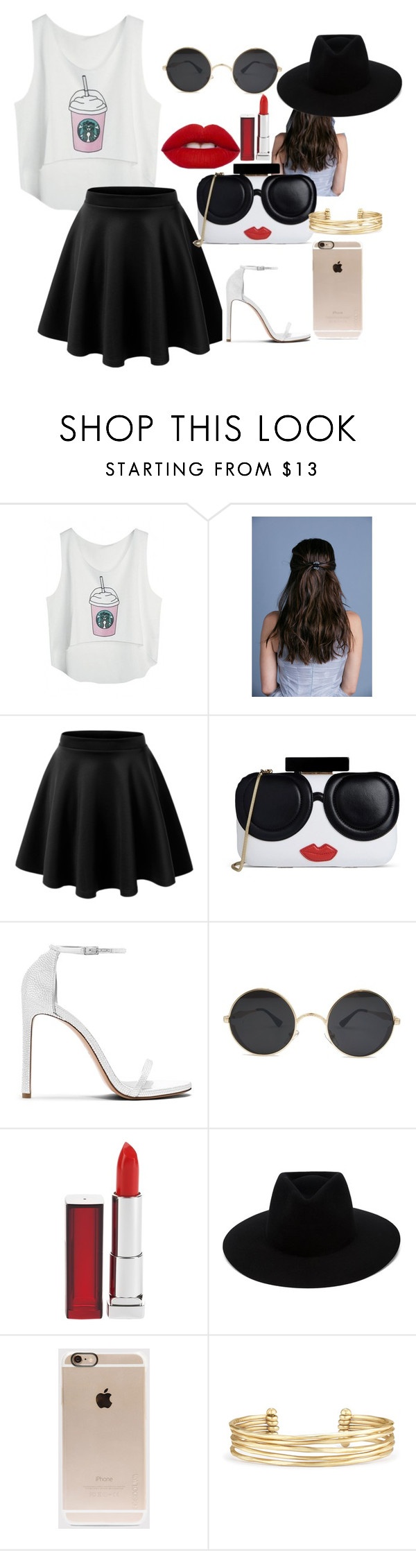 """red"" by conceitedbrat on Polyvore featuring Alice + Olivia, Maybelline, rag & bone, Incase and Stella & Dot"