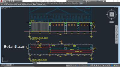 Download Gambar Desain Pagar Rumah File Autocad Dwg Desain Pagar Keamanan Rumah Gaya Arsitektur