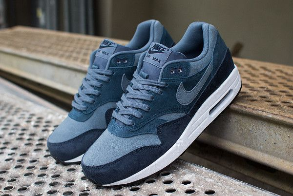 huge discount 686d1 1e981 Nike Air Max 1 Essential LTR Armory Slate Navy (3)