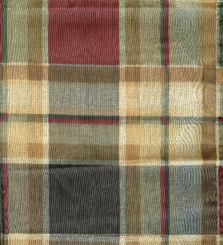 Highlands Plaid Tier Curtains, Swag Curtains, Valance, Table Linens