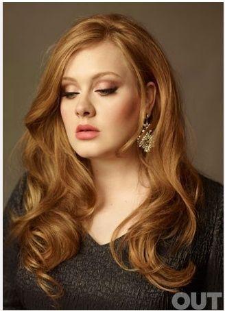Adele Beautiful Warm Caramel Hair Color