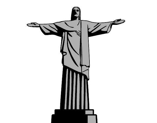 Top Resultado de imagem para cristo redentor desenho | Papéis de  UQ77