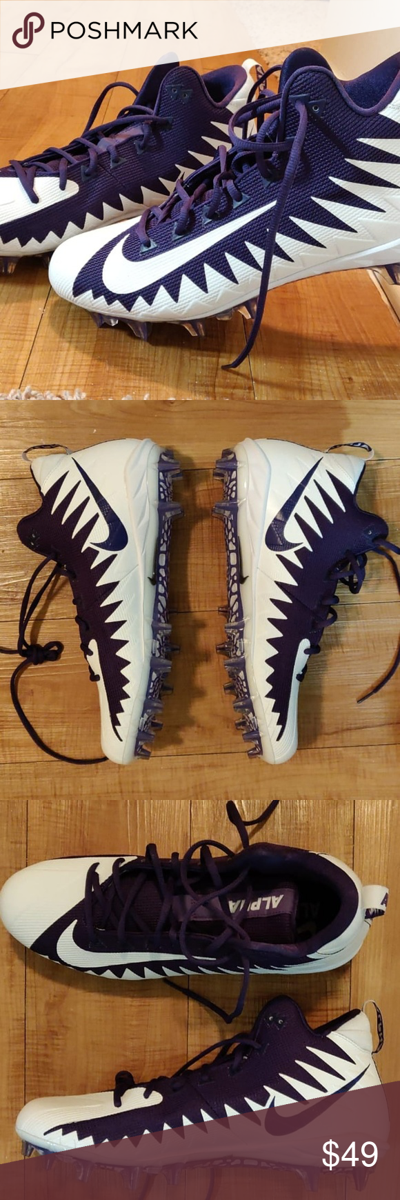 cd3d1a501319  NEW  Nike Alpha Menace Pro Mid Football Cleats Welcome to my store!  theflipwares