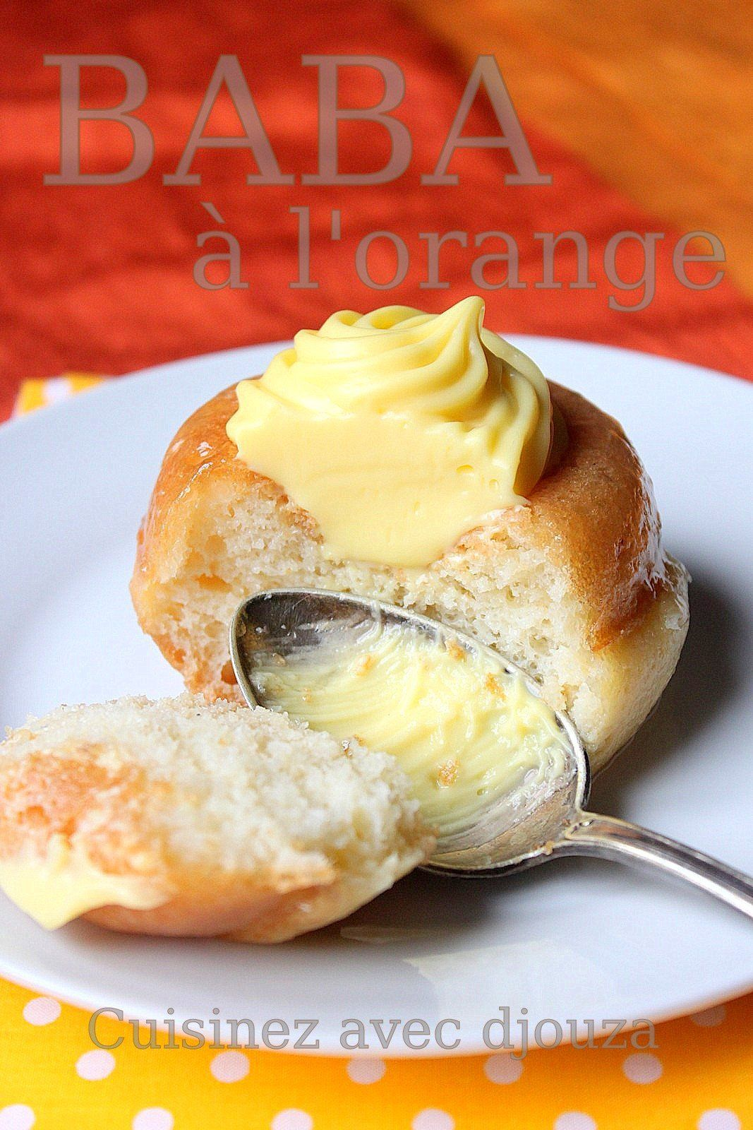 Baba au rhum ou mini savarin à l'orange sans alcool