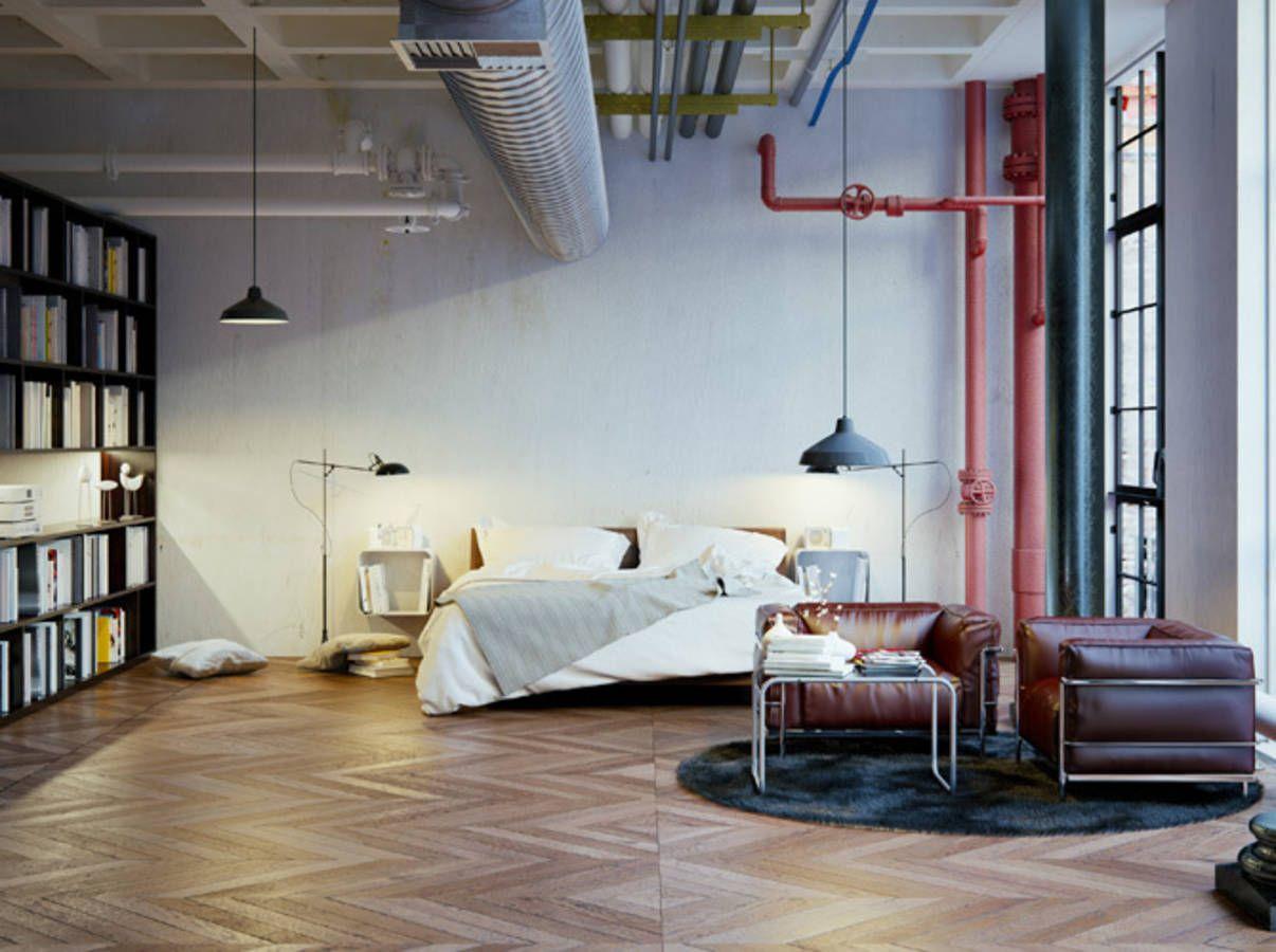 style industriel cocooning. Black Bedroom Furniture Sets. Home Design Ideas