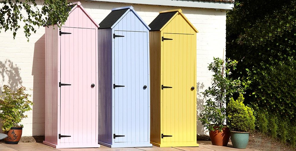 Wooden Garden Shed In Pink Blue Or Yellow In 2019 Garden