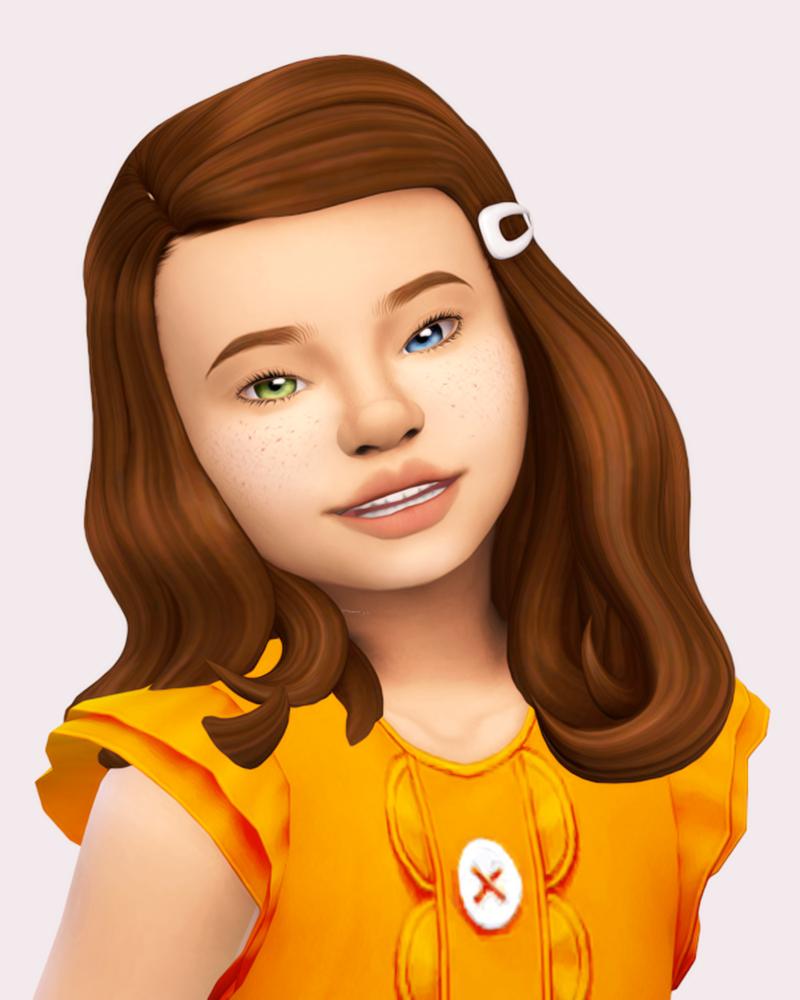 Icecream for Breakfast in 2020   Sims hair, Sims 4 toddler ...