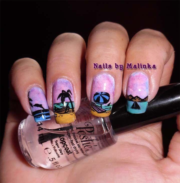 Infinity Nails-61 | Pinterest | Infinity nails and Vacation nails