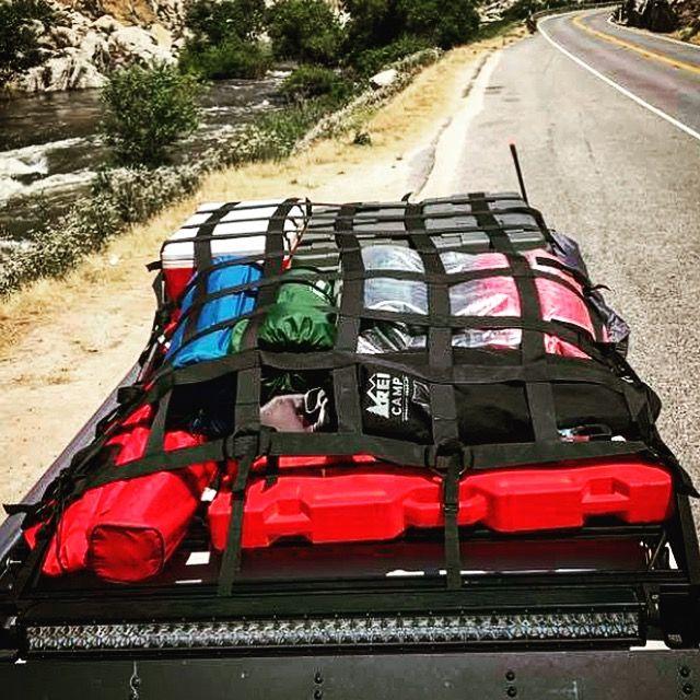Prinsu Designs Rack With Raingler Nets Milspec Roof Rack Net Roof Rack Fj Cruiser Toyota Fj Cruiser