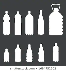 Vector Set Plastic Bottle White Silhouettes Stock Vector Royalty Free 1694751202 Plastic Bottles Bottle Silhouette