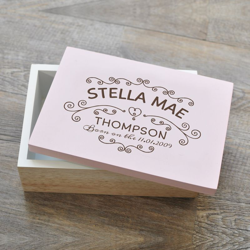 Personalised wooden keepsake box20 baby hume pinterest our personalised baby keepsake memory boxes are the perfect keepsake and look great in any childs room a great new baby birthday or christening gift negle Choice Image