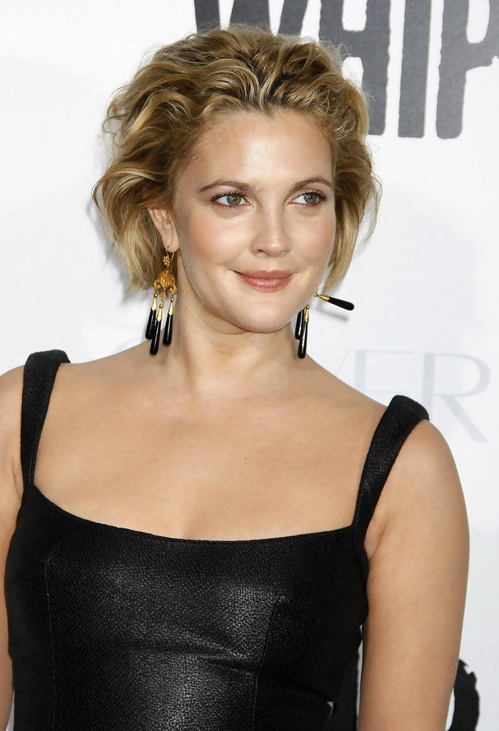 Drew Barrymore Messy Cut Hairstyles Pinterest Short Hair Bob