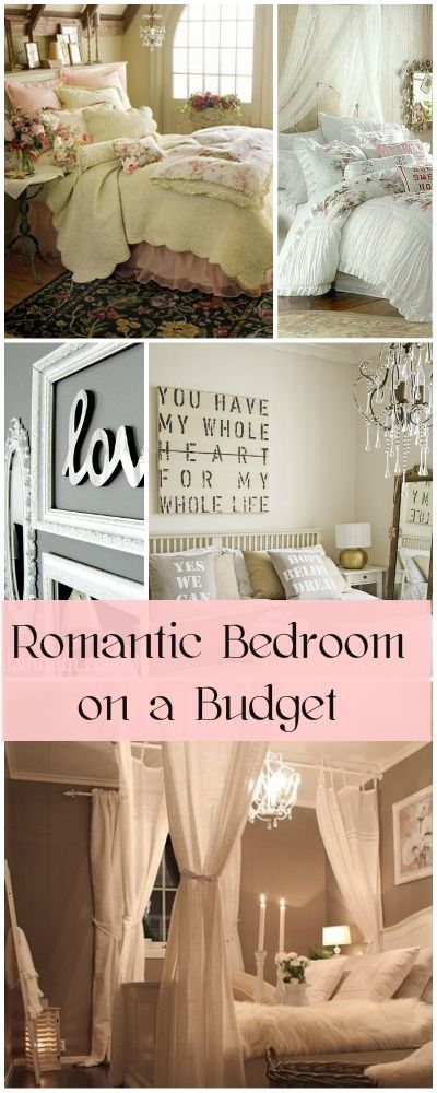 Romantic Bedroom On A Budget Home Decor Pinterest Budget Bedroom Home Decor And Romantic