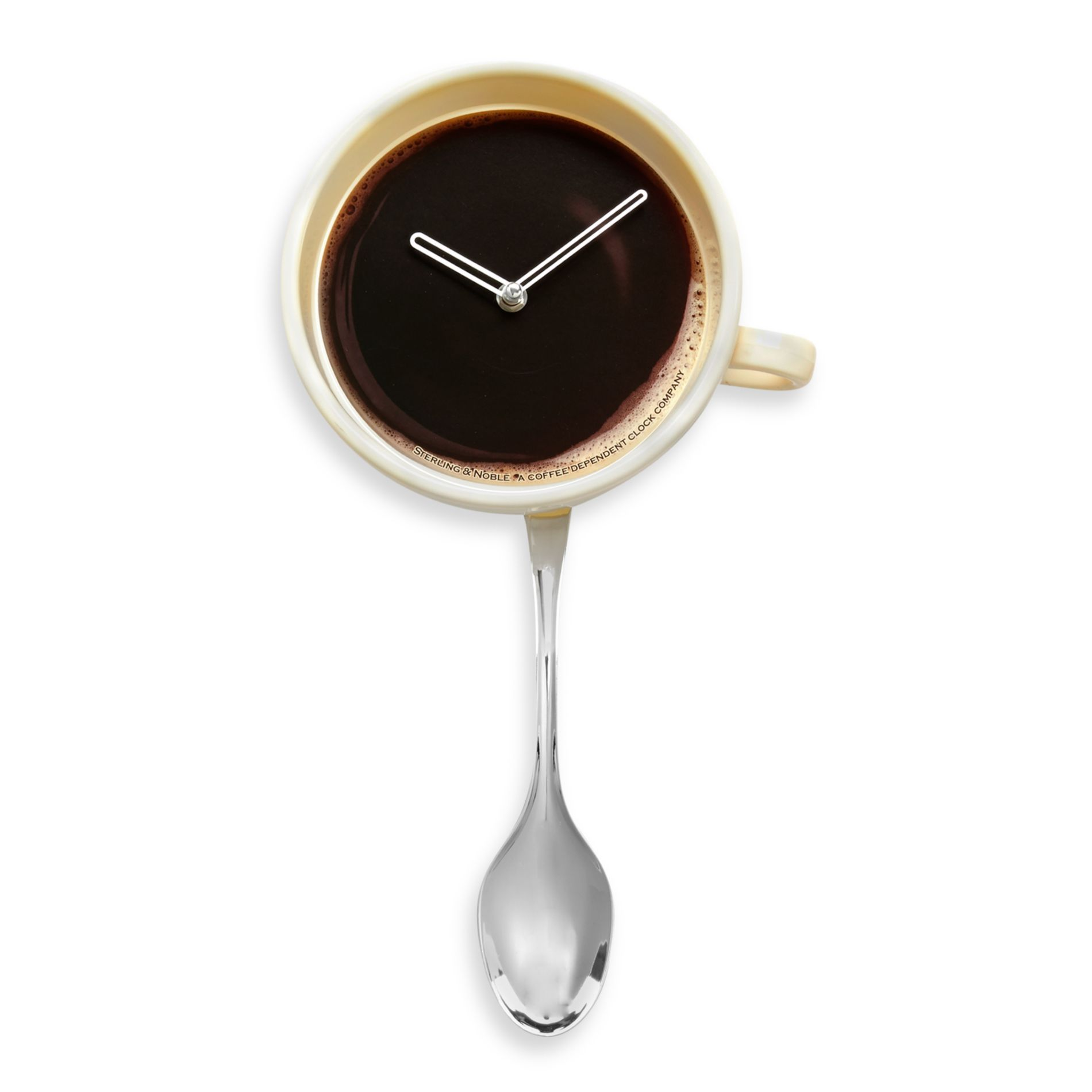 Coffee Cup with Spoon Pendulum ~ Kitchen Wall Clock -Love, Love ...
