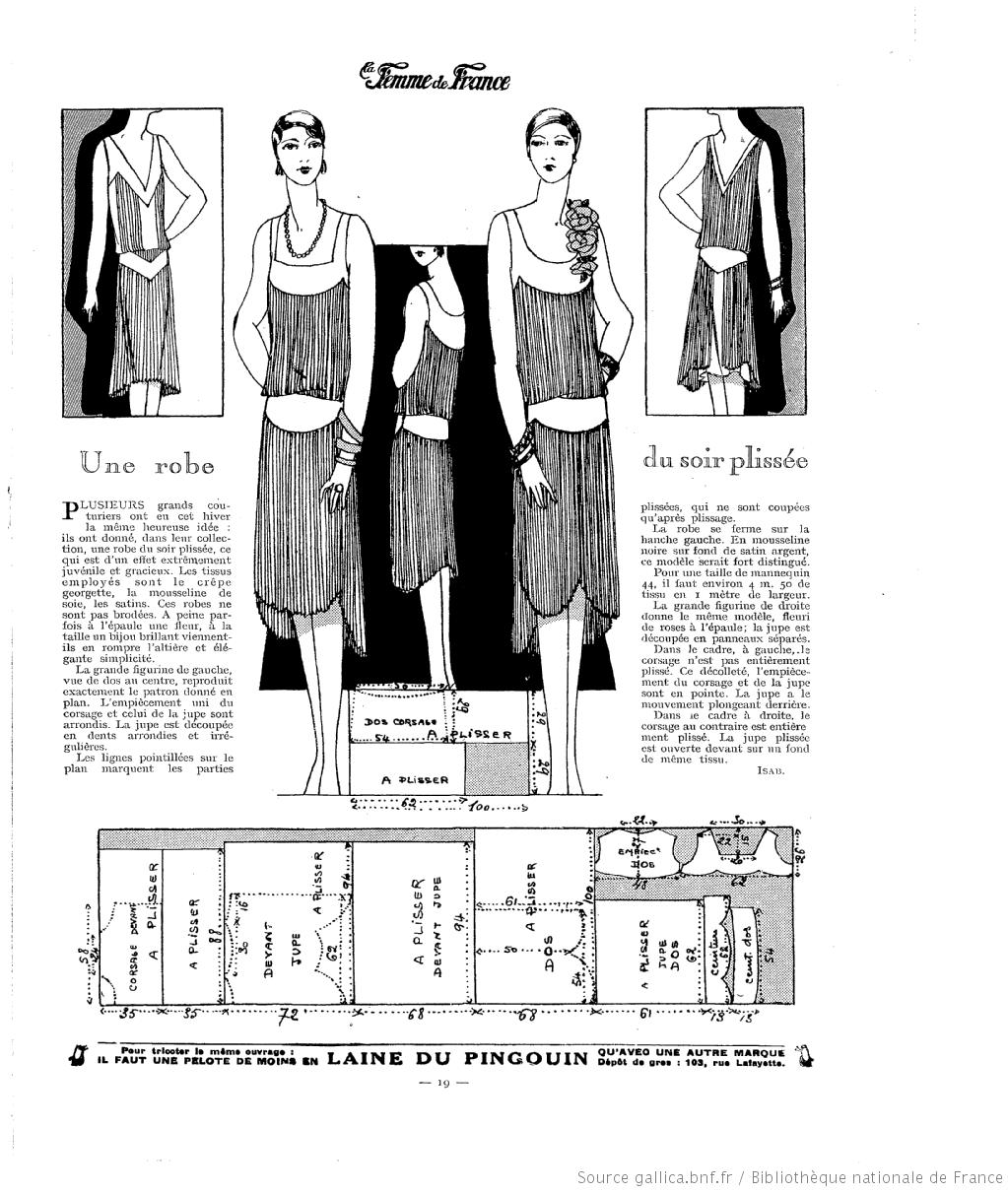 Robe Plissée (La Femme de France 04/11/1928)   La Femme de France ...