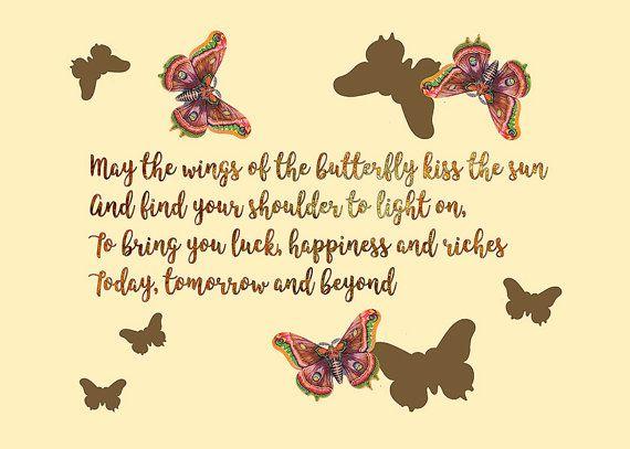 Irish Blessing print. Butterfly wall art Printable poster. Nursery ...