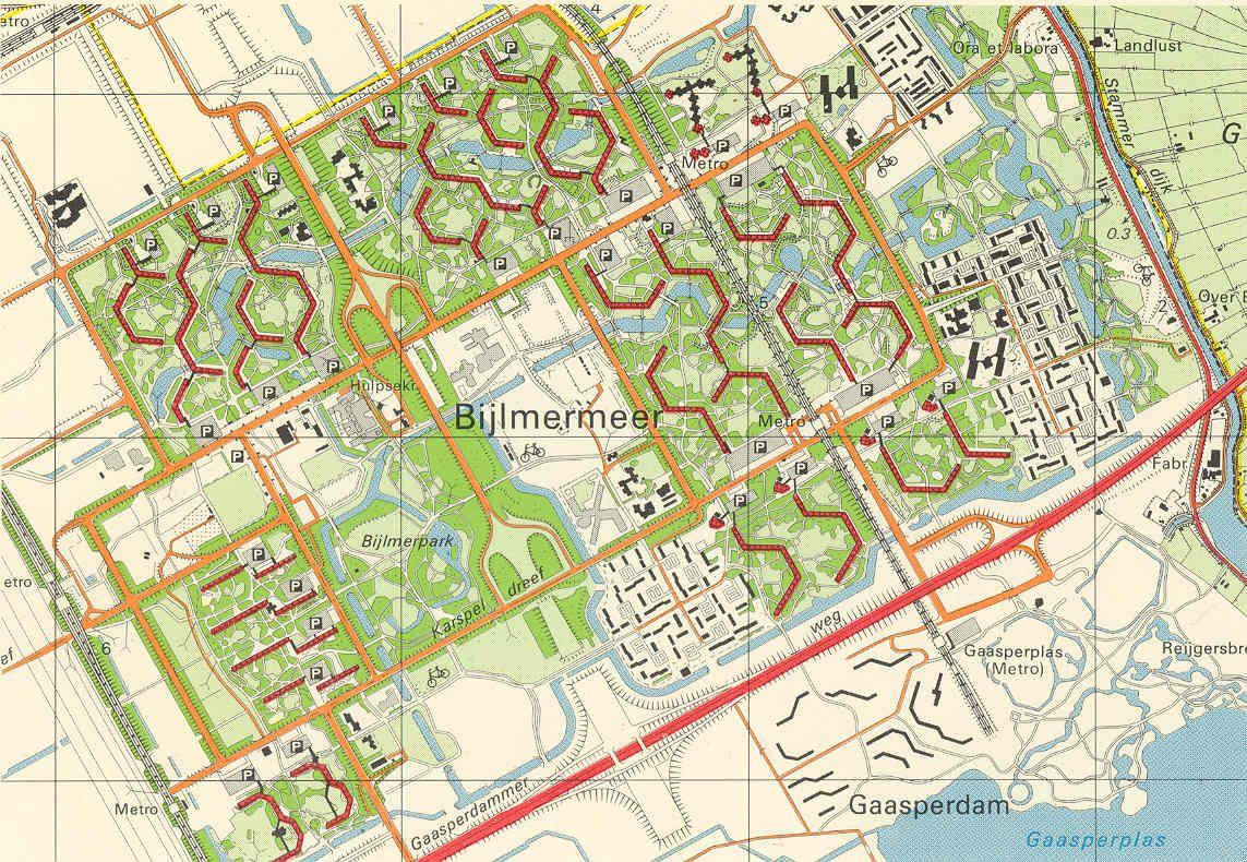 Bijlmermeer Amsterdam is based on the model
