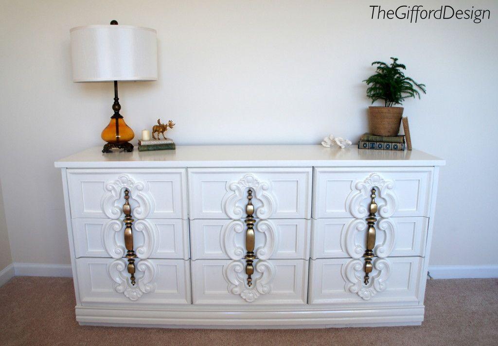 Best Glossy White 70 S Style Dresser Painting Laminate 400 x 300