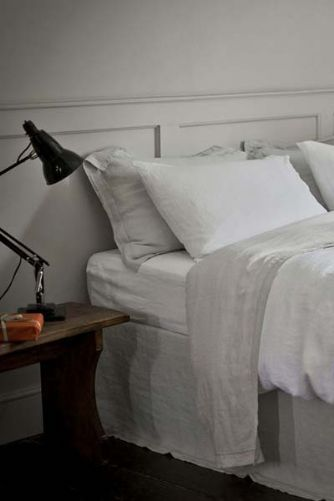 The Linen Works - 100 Linen Duvet Cover - White
