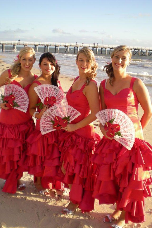 Spanish bridesmaids dresses | Spanish/Flamenco Theme ...