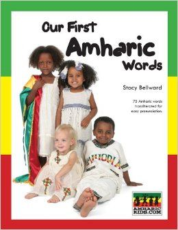 http://www.amazon.com/First-Amharic-Words-Stacy-Bellward/dp/0979748100/?keywords=Our First Amharic Words