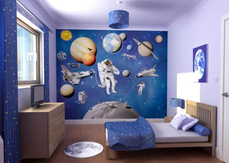 Amazing Kids Bedroom Decor With Sky Blue Ideas