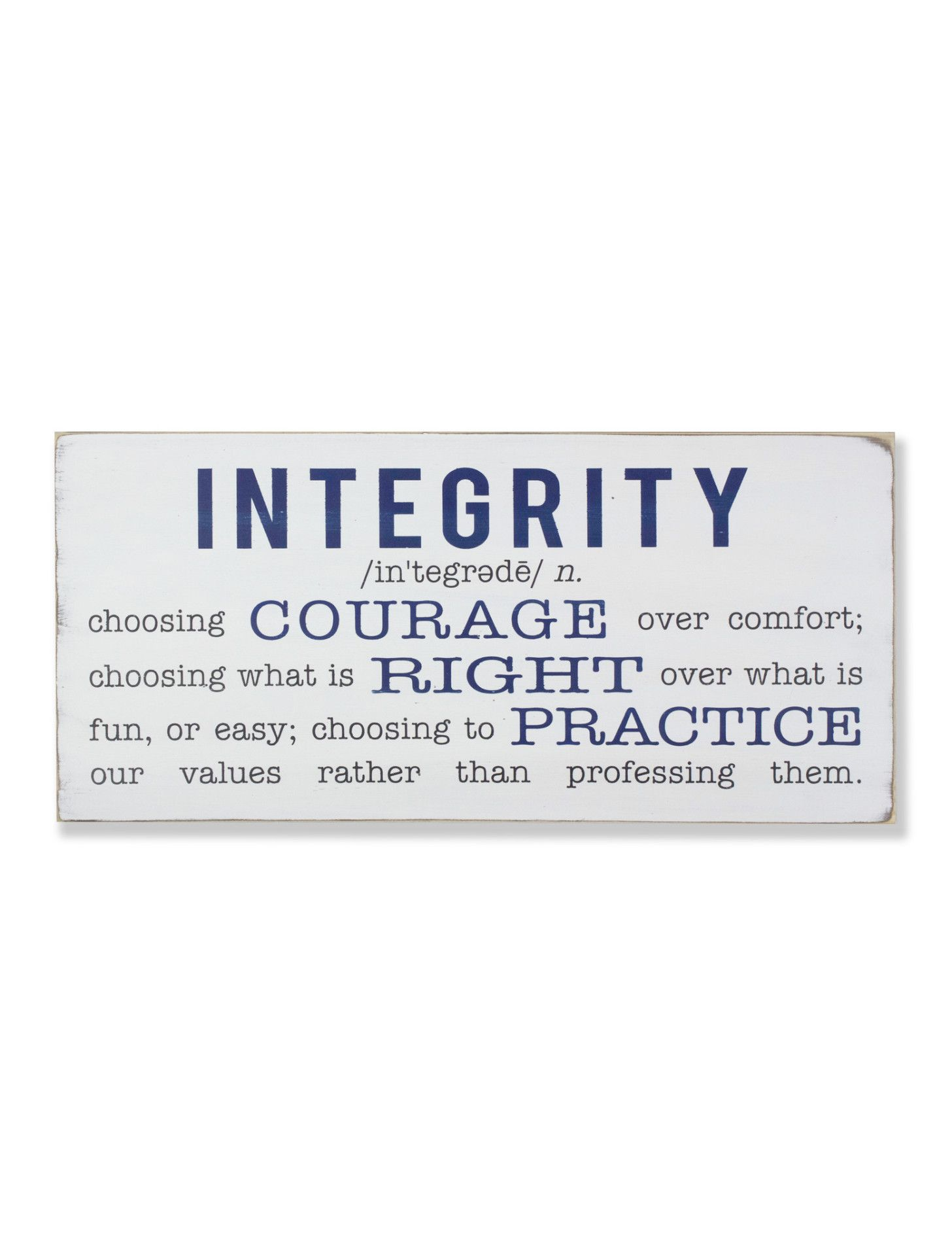 Definition Of Integrity Journal