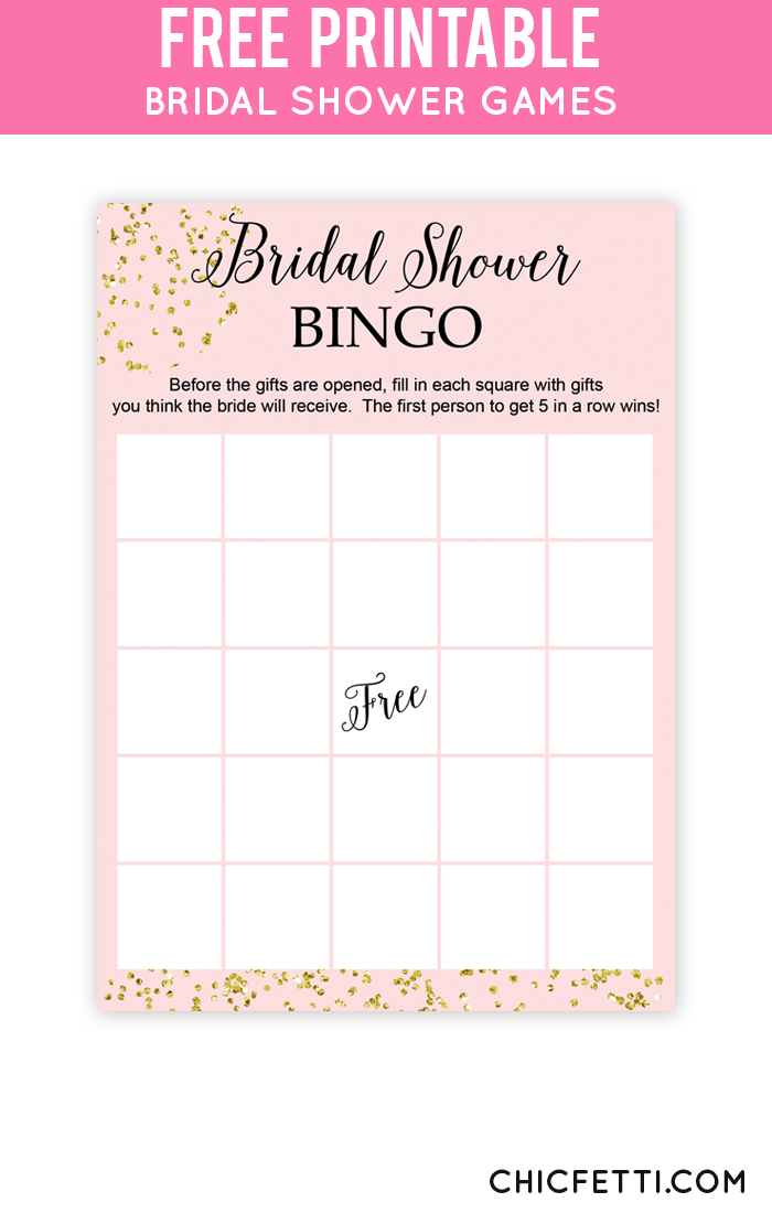 free printable gold bridal shower games from chicfetti