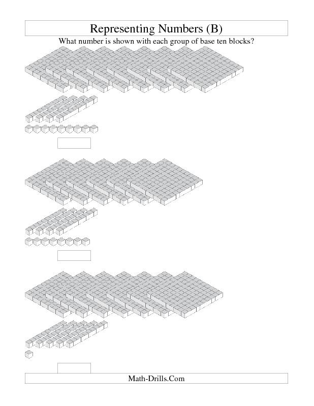 math worksheet : base ten blocks worksheet  representing numbers  units rods  : Division With Base Ten Blocks Worksheets
