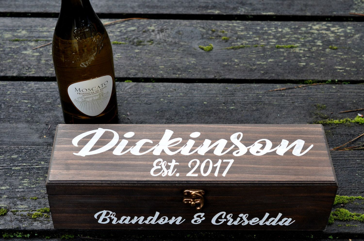 Wedding Wine Box Personalized Ceremony Anniversary Custom Engraved