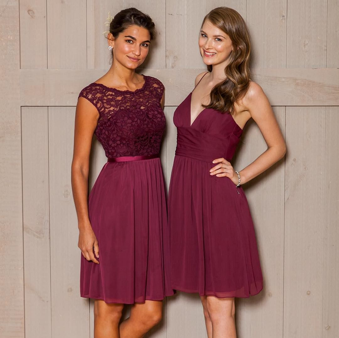 Inspired by marsala and burgundy wedding themes these short mesh find the perfect bridesmaid dresses at davids bridal our bridesmaid dresses include all styles colors such as purple gold red lace ombrellifo Images