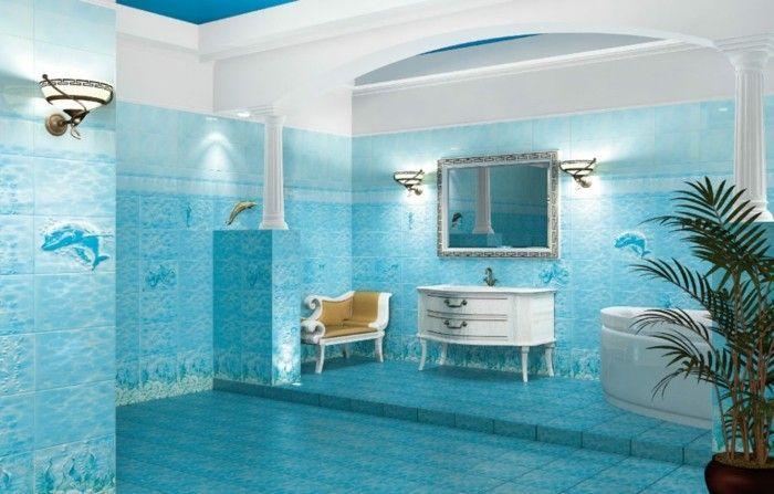▷ 1001+ designs uniques pour une salle de bain turquoise Vos - salle de bain en bleu