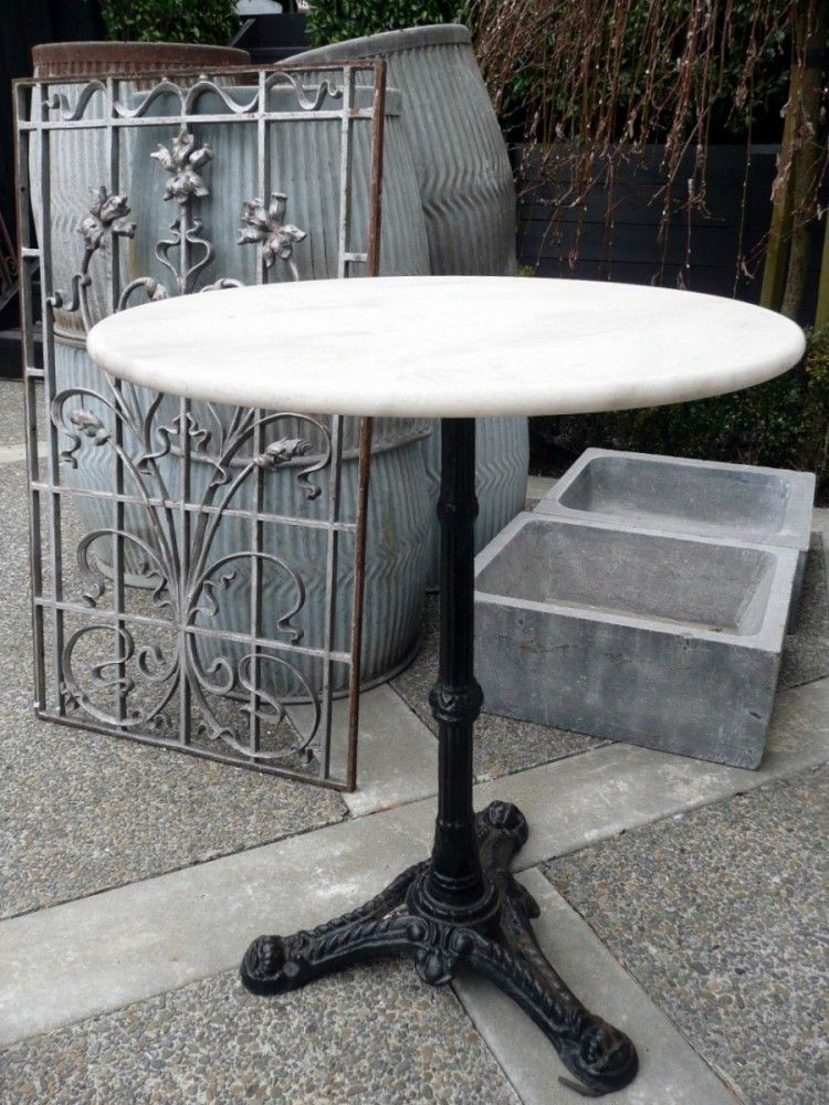 French Bistrot Table With Marble Top C 1940 In 2020 Marble Bistro Table Bistro Table Patio Furnishings