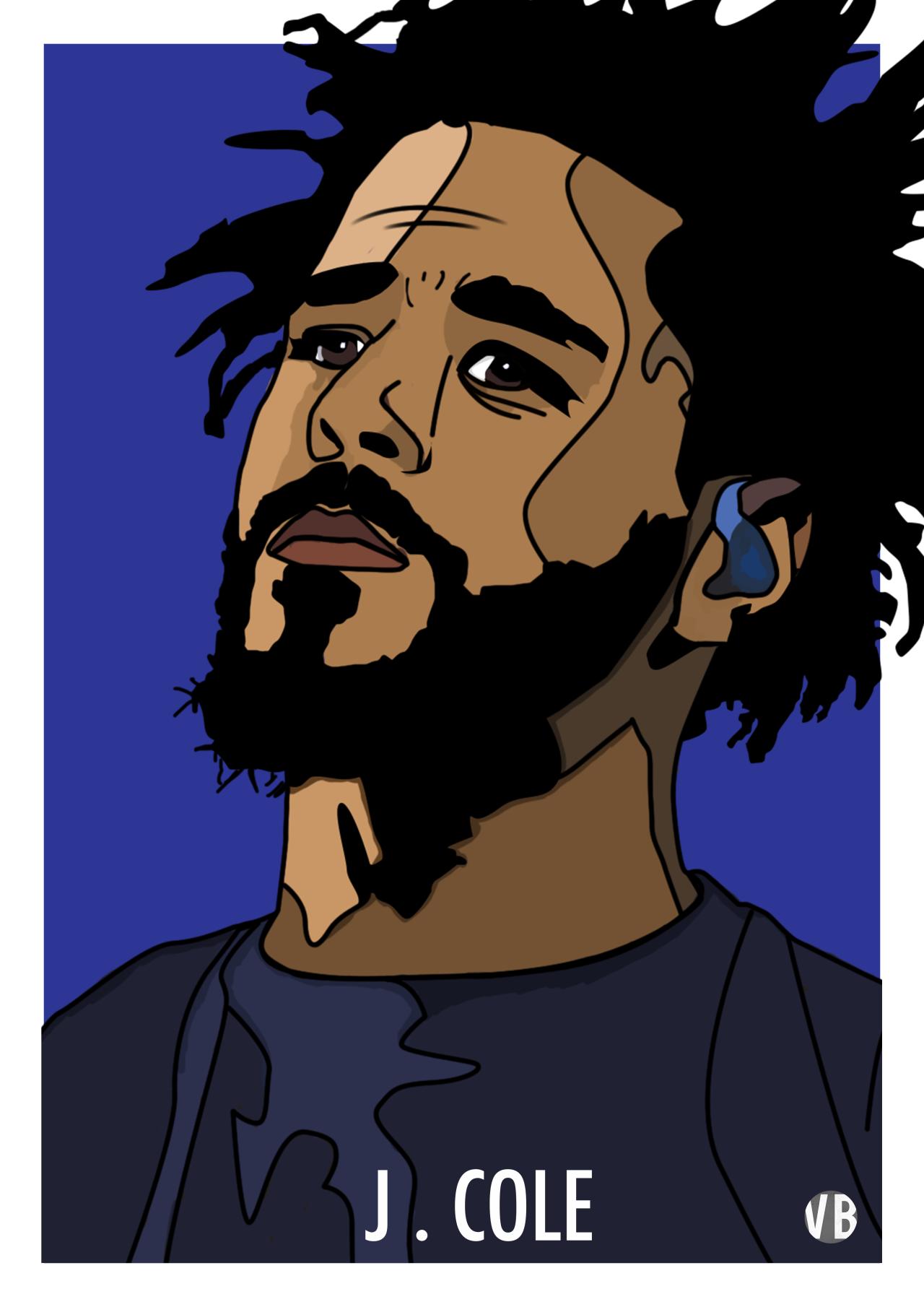 Vivekbajaj J Cole Illustration J Cole Art Rapper Art Hip Hop Artwork