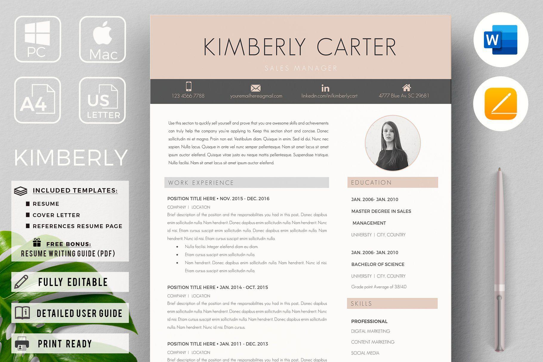 Modern resume cv for students student resume template