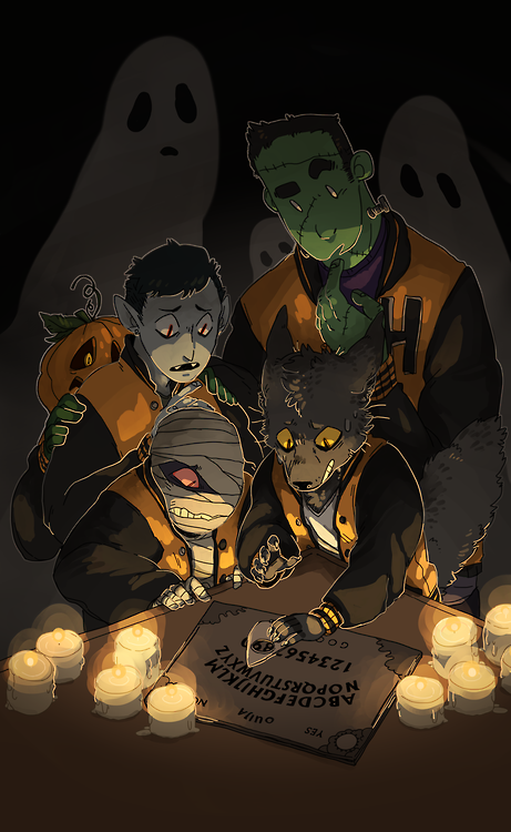 corycat90:  happy halloween! illustration project #4