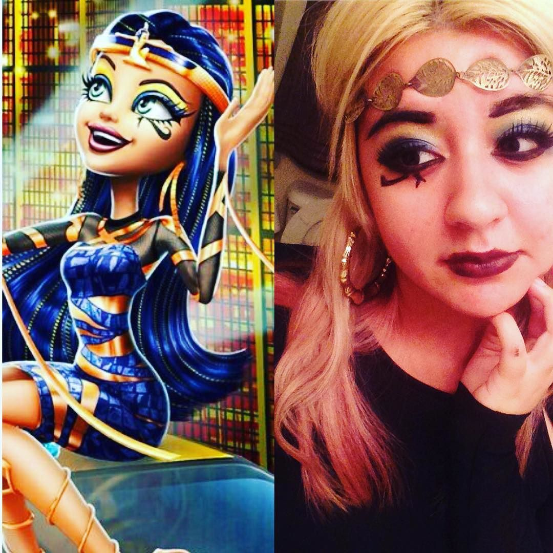 We're so wrong for each other...you're a royal ghoul and  I'm an average joe...you gotta understand we gotta break up so I'm really obsessed with Boo York Boo York right now...and so I did a Cleo de Nile inspired look if any of you need some Halloween inspiration! Cleo is my second favorite ghoul and I'm also obsessed  with Cleo's & Deuce's song in the movie. #cleodenile #monsterhigh #itcantbeover #booyorkbooyork #halloween #inspired #motn #cosplaymakeup #egyptianmummyprincess