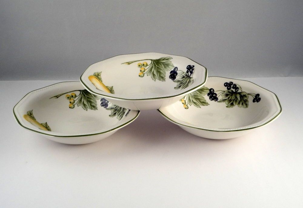 3 Churchill Fine English Tableware Staffordshire Large Bowls Fruits Patterns & 3 Churchill Fine English Tableware Staffordshire Large Bowls Fruits ...