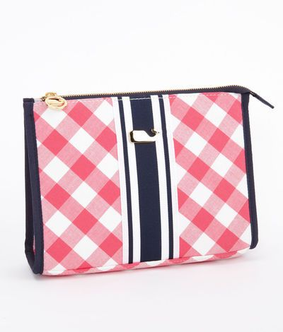 Womens Accessories Gingham Makeup Bag Vineyard Vines