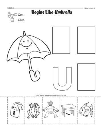 Letter U Preschool Printables -