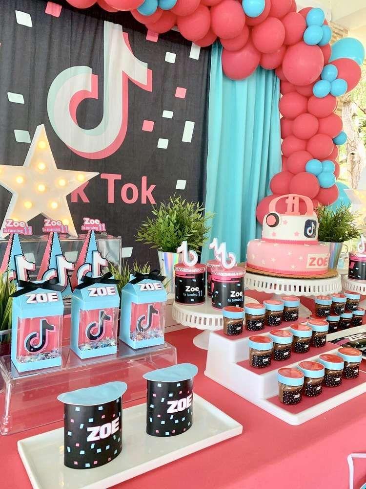 Tiktok Birthday Party Ideas In 2020 Fall Birthday Parties 12th Birthday Party Ideas 10th Birthday Parties