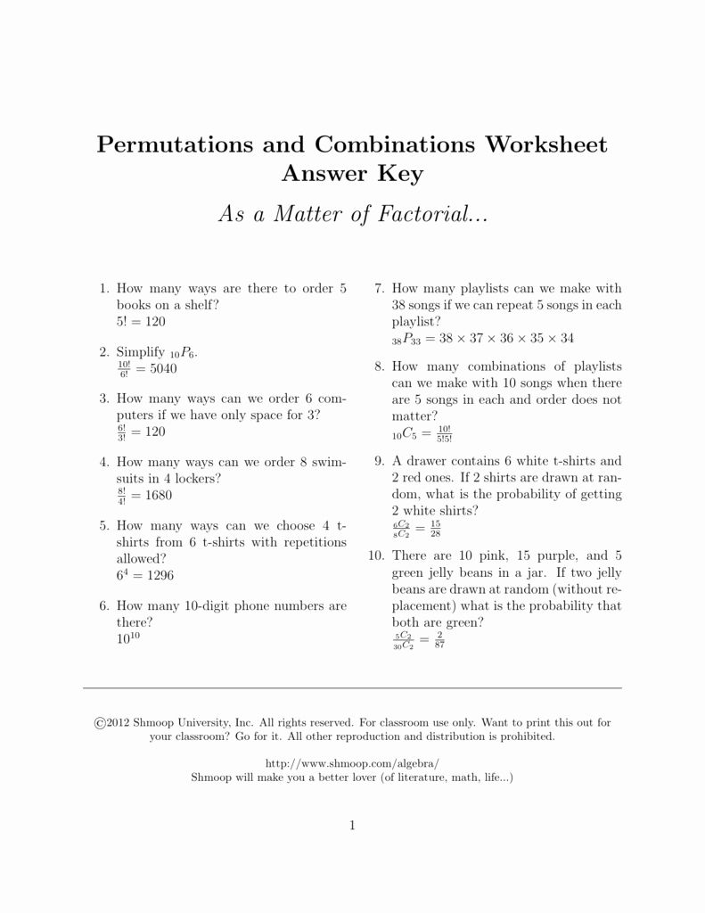 50 Permutations And Combinations Worksheet Answers Chessmuseum Template Library In 2020 Permutations And Combinations Resume Template Word Worksheets